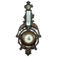 Barometer in a Carved Case, circa 1880