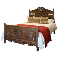 Oak Breton Bed, WK107
