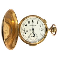 18-Karat Gold 'Initiative' Full Hunter Quarter Repeater Chronograph Pocket Watch