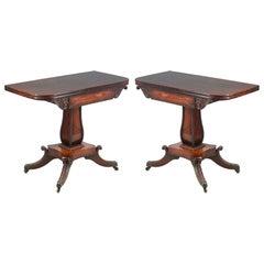 Pair of Regency Period Rosewood Tea Tables