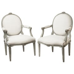 Pair of Antique Swedish Fauteuils