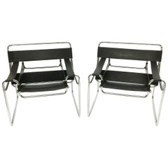 "Pair of Vintage Marcel Breuer ""Wassily"" Chairs"
