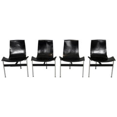 Set of Four T-Chairs by W. Katavolos, Douglas Kelly & Ross Littel, Made by ICF
