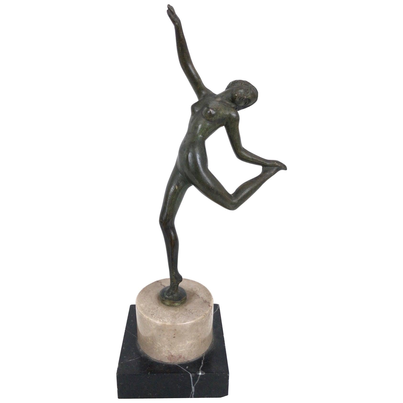 Little Dancing Bronze Sculpture, Art Deco, France, 1930s