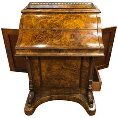 19th Century Victorian Walnut Davenport Desk