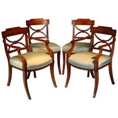 Rare Set of Twenty George Ill Mahogany Dining Chairs