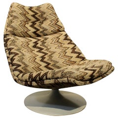 1970s Artifort Swivel Lounge Chair by Geoffrey Harcourt