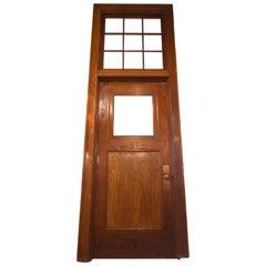 Oak Schoolhouse Door with Transom