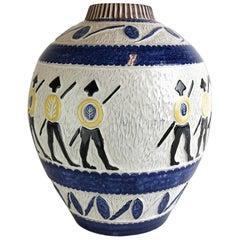 Large Vase Gladiator Leif Ueland, Norway, 1950s