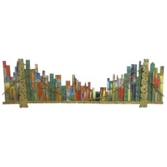 Curtis Jere Cityscape Brooklyn Bridge 1967 Signed Wall Sculpture