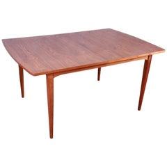 Kipp Stewart for Drexel Mid-Century Modern Walnut Extension Dining Table, 1959