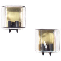 1/6 Modernist Wall Lamps by Limburg Glashutte, 1970s