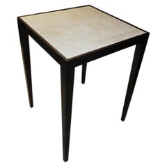 Custom Mahogany Table with Shagreen Top