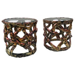"Pair of Duquette Style ""Ribbon"" Side Tables, 1970s"