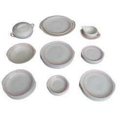 Art Deco Knowles 35pcs China Porcelain Dinnerware Service, Modernist Design