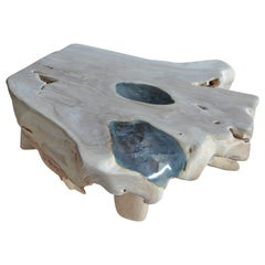 Andrianna Shamaris St. Barts Ice Blue Resin Coffee Table