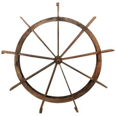 Early 20th Century Wood Water Wheel from Kerala, India