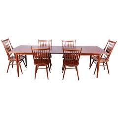 Kipp Stewart for Drexel Declaration Mid-Century Modern Walnut Dining Set, 1959