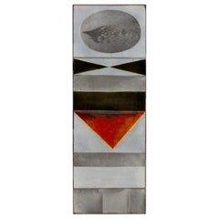 "Roger Capron ""Glazed Lava"" Ceramic Tile Panel, France, 1960s"