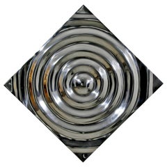 Mid-Century Modern Aluminium Cast Saturn Ring Wall Sculpture Relief, 1970s