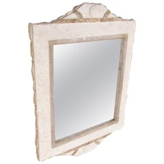 Hollywood Regency Tessellated Stone Hall Mirror