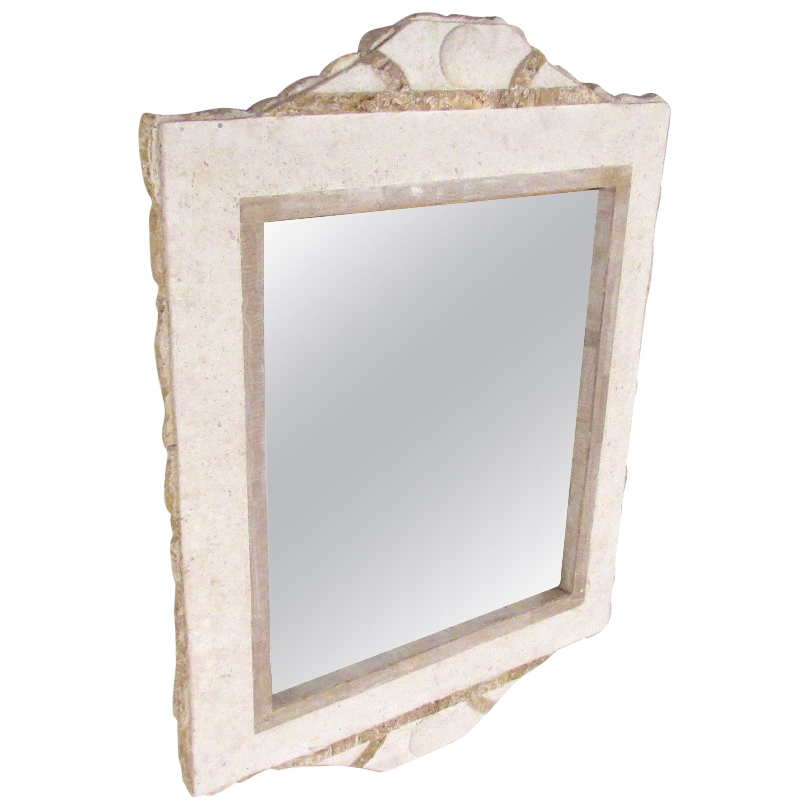 Hollywood Regency Tessellated Stone Hall Mirror