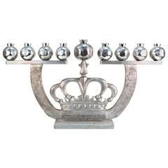 Oded Halahmy 'Crown Lights' Modern Aluminum Cast Menorah