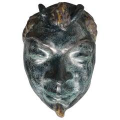 Francois Emile Decorchemont Pate De Verre Mask of Pan