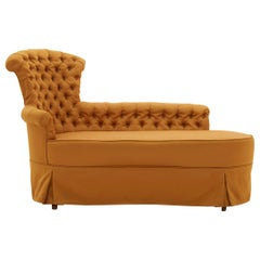 Tufted Yellow Chaise Lounge