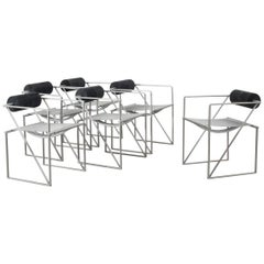 Set of 6 Seconda Chairs by Mario Botta for Alias, Italy, 1985