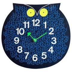 Original George Nelson 'Omar the Owl' Zoo Timer Clock, circa 1965
