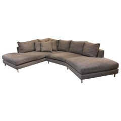 Room & Board Hayes Custom Left-Back Angled Sectional Sofa