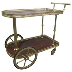 French Bronze Rolling Bar Cart