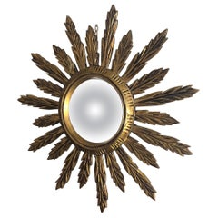 Giltwood Golden Sunburst Mirror, 1950s