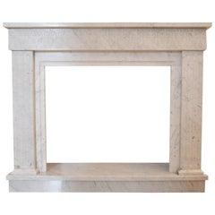 White Carrara Marble Fireplace Surround / Mantel by Element & Co