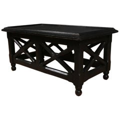 Ebonized Low Lamp or Coffee Table