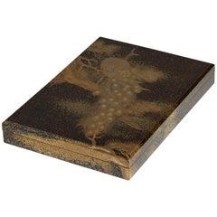 Japanese Writing Box 'Suzuribako' with a Peacock,  Meji Period