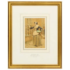 Antique Watercolour 19th Century by Henry Reynolds Steer, Dated 1880