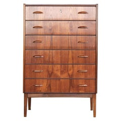 Midcentury Danish Chest of 6 Drawers in Teak