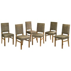 Jacques Adnet, Attributed, Six Chairs, 1940-1950