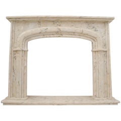 Ivory Italian Marble Fireplace Surround / Mantel by Element & Co