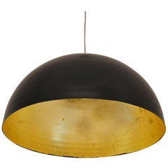 'Sun' Large Round Gold Leaf Ceiling Light / Lantern / Pendant by Element&Co