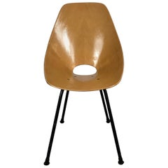 Italian Modernist Side Chair by Vittorio Nobili for Fratelli Tagliabue