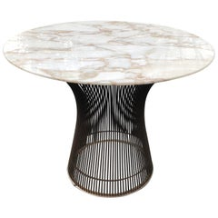 Warren Platner Side Table for Knoll, with Carrara Marble