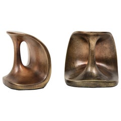 Ben Seibel Modernist Bronze Bookends