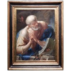 17th Century Italian School Painting with San Peter