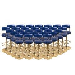 1 of 27 Brass Börje Johansson Bar Stools by Johansson Design