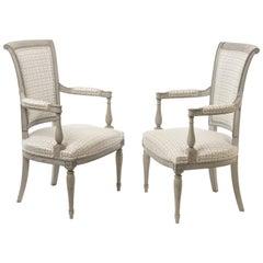Pair of Stunning Directoire Style Fauteuils