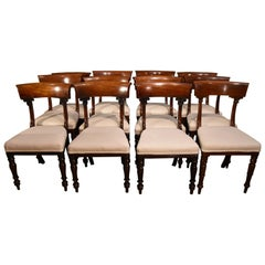 Elegant Set of William IV Mahogany Dining Chairs