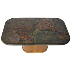 Marcus and Paul Kingma, Signed Coffee Table, the Netherlands, Early 1970s
